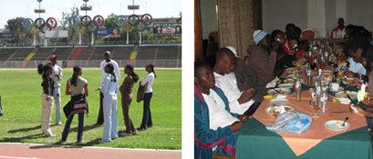 Camp d'entraînement organisé par la CONFEJES à Addis-Abeba et préparatoire aux 16èmes Championnats d'Afrique d'Athlétisme