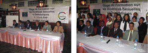 Stage de formation des Jeunes filles leaders sur les violences sexuelles et domestiques