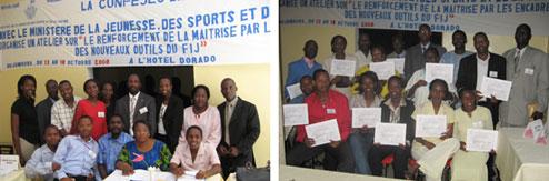 Séminaire de renforcement de la maîtrise par les encadreurs des nouveaux outils de gestion du Fonds d'Insertion des Jeunes (FIJ) pour les pays de la zone Afrique Centrale