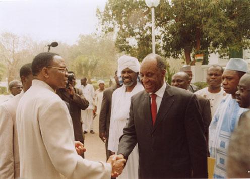 Le Président de la République du Niger reçoit en audience les Ministres et Chefs de délégation de la CEN-SAD