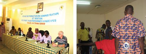 Session de formation en renforcement des capacités techniques des entraîneurs, officiels, arbitres et classificateurs, à gérer les épreuves du sport pour personnes handicapées