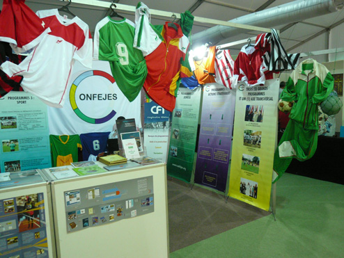 Exposition CONFEJES au Village des Partenaires des 6èmes Jeux de la Francophonie