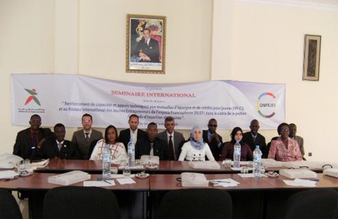 Séminaire CONFEJES sur les mutuelles d'épargne et de crédits pour jeunes (Rabat, 5-10 octobre)
