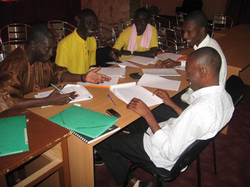 Stage de de Formation des encadreurs régionaux du  FIJ au Sénégal