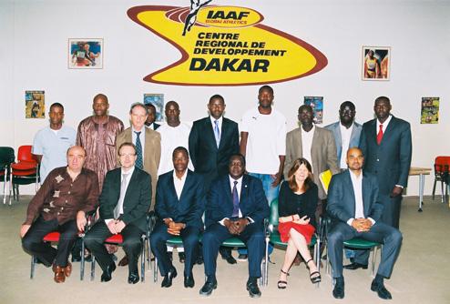 Conseil d'administration 2010 du Centre International d'Athlétisme de Dakar (CIAD)