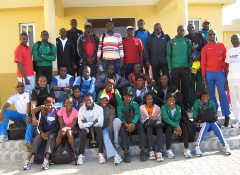 Camp d'entraînement préparatoire aux 10èmes Jeux Africains de Maputo (Mozambique)