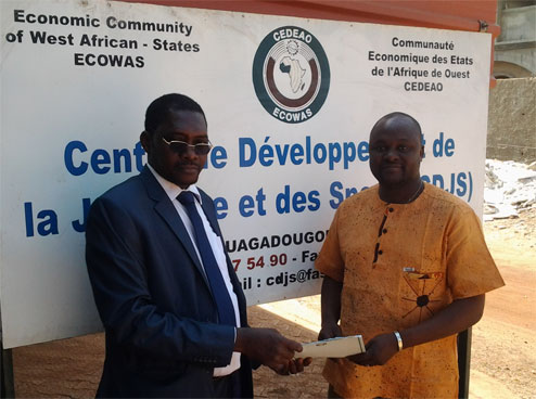 Visite de travail du Secrétaire général  de la CONFEJES au siège de la CDJS/CEDEAO à Ouagadougou