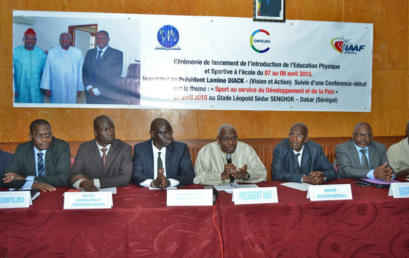 Hommage au Président Lamine Diack, président de l'IAAF