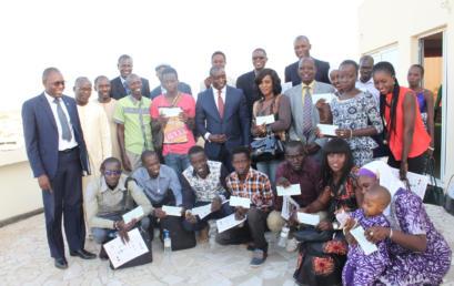 Cérémonie de remise des chèques PPEJ aux Jeunes promoteurs du Sénégal