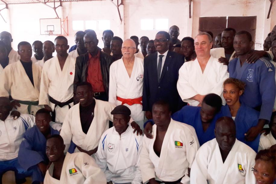Stage des combattants à l'orée du Tournoi international de Judo de Saint Louis