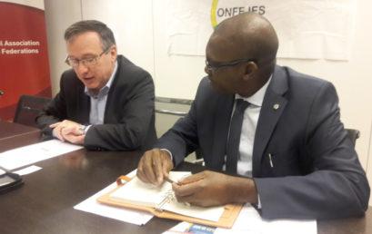 Visite du Secrétaire général de la CONFEJES au siège de l'IAAF