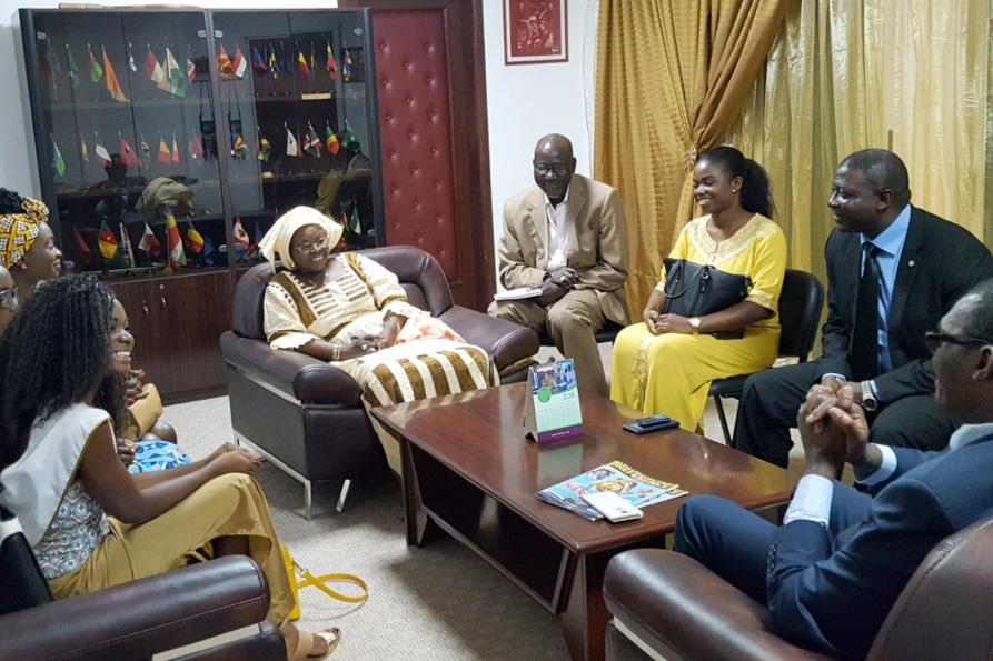 Le Ministre de la Jeunesse et de l'Education Civique du Cameroun en visite au siège de la CONFEJES