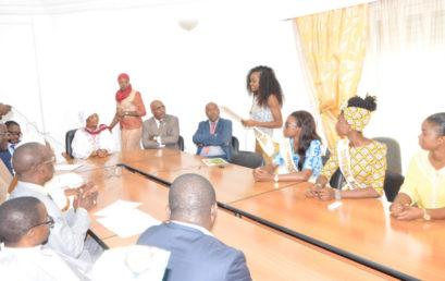 Dr Coumba Bâ, Ministre de la Jeunesse et des Sports de Mauritanie en visite au siège de la CONFEJES
