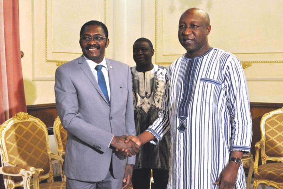 Audience accordée par le Premier Ministre du Burkina Faso au Secrétaire général de la CONFEJES