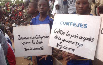 La CONFEJES fait la promotion de la paix dans les arènes de lutte