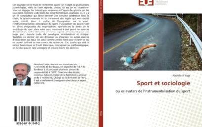 La CONFEJES salue la nouvelle publication de Dr NAJA : Sport et sociologie ou les avatars de l'instrumentalisation du sport