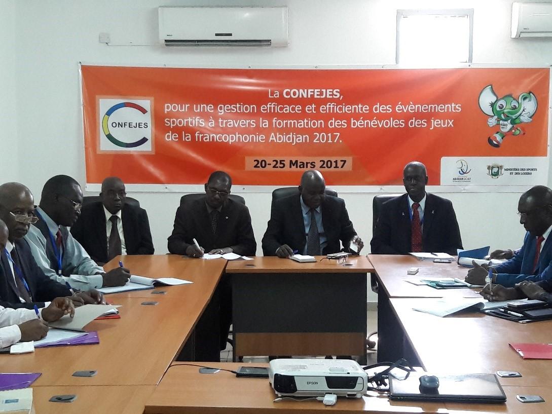 Côte d'Ivoire : des bénévoles des 8èmes Jeux de la Francophonie formés à la gestion des événements sportifs