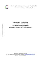 33eme-session-ministerielle-de-la-confejes-ndjamena-mars-2011-rapport-general-