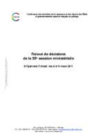 33eme-session-ministerielle-de-la-confejes-ndjamena-mars-2011-releve-de-decisions