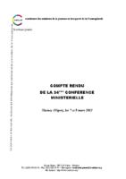 34eme-session-ministerielle-de-la-confejes-niamey-mars-2013-compte-rendu