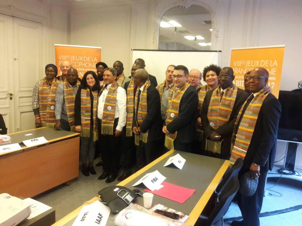 LA PARTICIPATION DE LA CONFEJES A LA REUNION D'EVALUATION DES JEUX DE LA FRANCOPHONIE Abidjan 2017