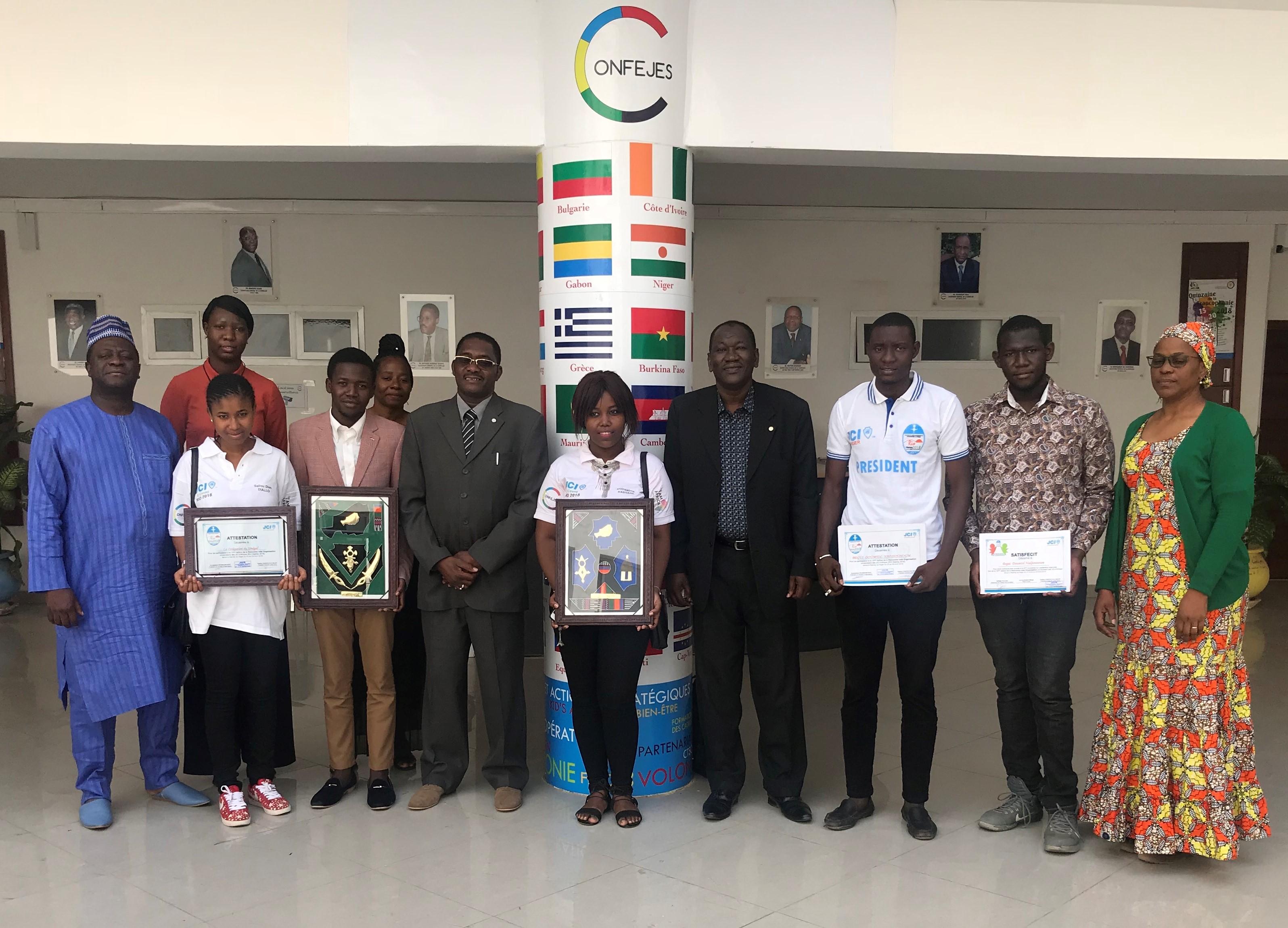 Le Secrétaire Général de la CONFEJES reçoit une délégation de la Jeune Chambre Internationale Universitaire CESAG