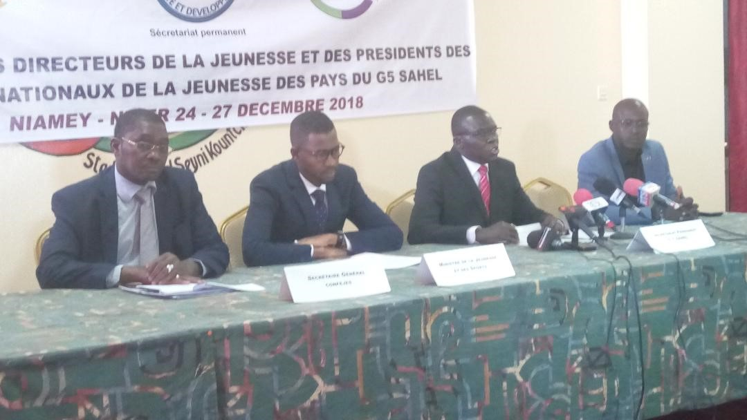 Les Directeurs généraux/nationaux et les présidents des conseils nationaux de la jeunesse des pays du G5 SAHEL se retrouvent à Niamey.