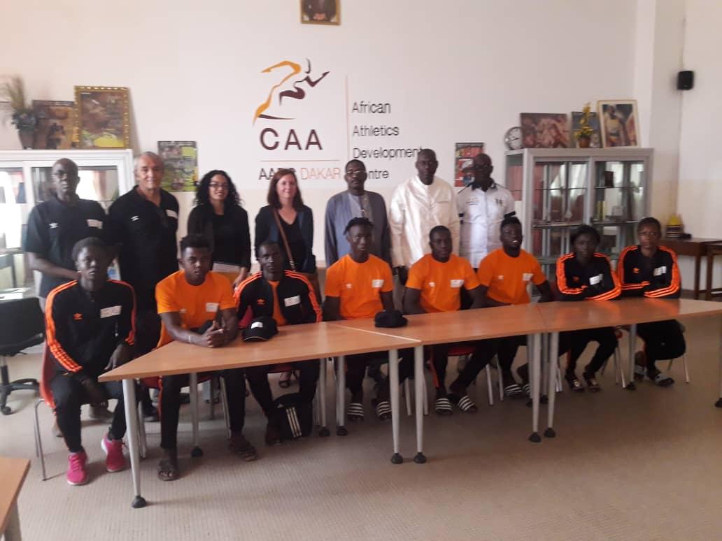 Visite du SG de la CONFEJES et une délégation Française au Centre de Développement de l'Athlétisme Africain (AADC) de Dakar