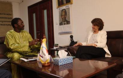 Visite de la CONFEJES par l'administratrice de l'OIF, Madame Catherine CANO, lors de son séjour au Sénégal du 9 au 12 Juillet 2019.