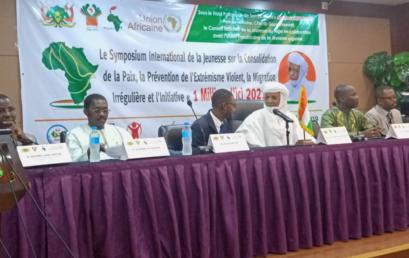 La CONFEJES participe au Symposium international de la Jeunesse sur la consolidation de la paix, la prévention de l'extrémisme violent, la migration irrégulière et l'initiative « 1million d'ici 2021 » au Niger.