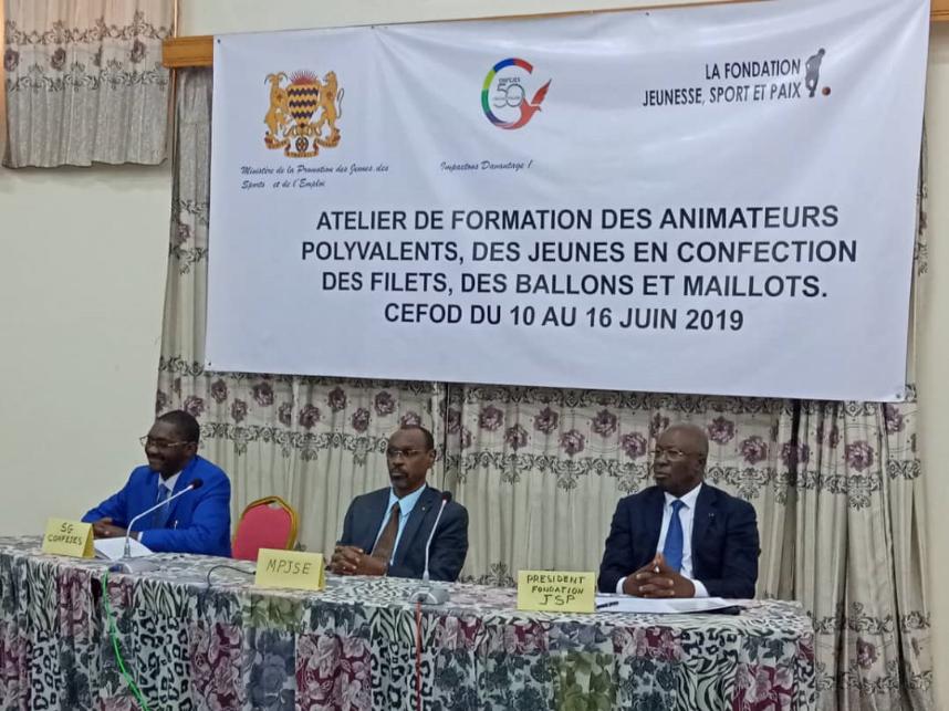 La CONFEJES et la Fondation Jeunesse, Sport et Paix organisent une session à N'Djamena pour promouvoir la citoyenneté et le vivre ensemble