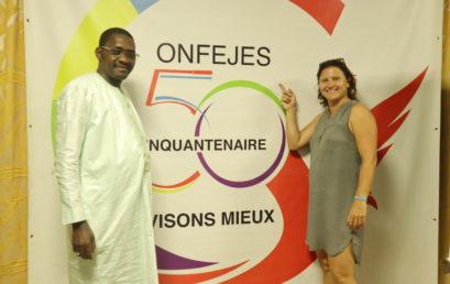 Visite du Ministre des Sports de la République Française Madame Roxana MARACINEANU, au siège de la CONFEJES à Dakar.
