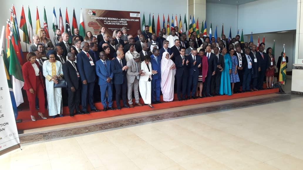 Bilan des travaux effectués par la CONFEJES en marge de la Première Conférence régionale des Ministres africains sur la mise en œuvre en Afrique du Plan d'action de Kazan (PAK), et en collaboration avec la CJSOI à Madagascar.