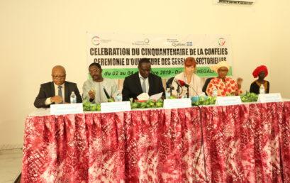ouverture  à Dakar des sessions sectorielles dans le cadre de la célébration du cinquantenaire de la CONFEJES