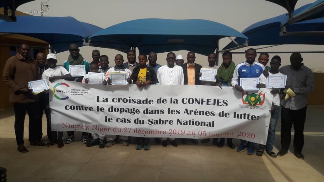 La CONFEJES organise à Niamey au Niger, une session de renforcement des capacités des entraîneurs des fédérations sportives de l'Afrique de l'ouest sur la lutte contre le dopage.