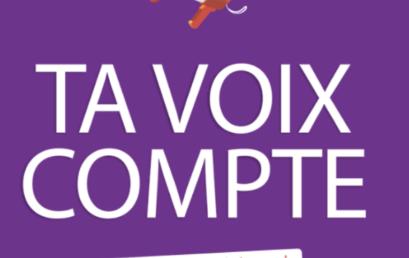 Grande consultation des jeunes francophones, âgés de 15 à 35 ans.
