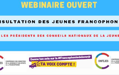Consultation des jeunes francophones